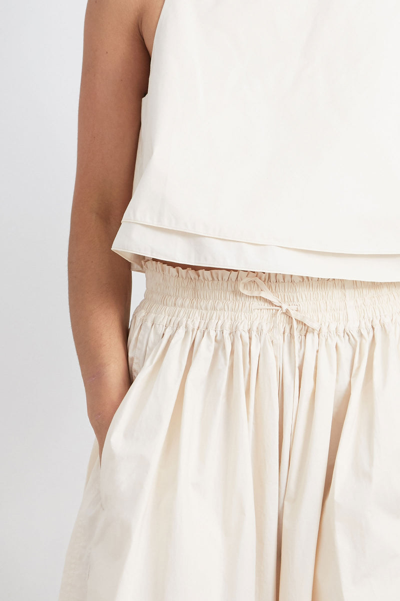Apiece Apart Wabi Sabi Skirt Cream