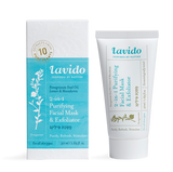Lavido 2-in-1 Purifying Facial Mask & Exfoliator (Pomegranate Seed Oil, Lemon & Macadamia)