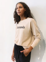 Mate The Label Vintage Pullover Bermuda Word Graphic Latte