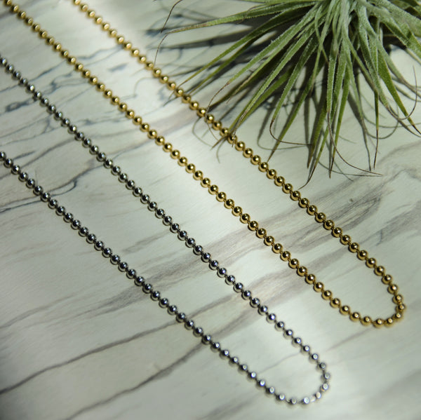 ASHA Beaded Chain Solid Gold