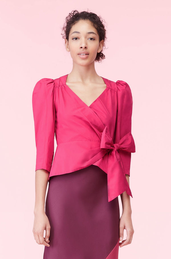 Rebecca Taylor Taffeta Bow Top Cocktail