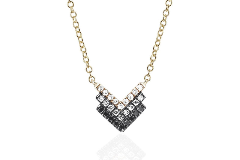 EF Collection Diamond Shield Fade Necklace