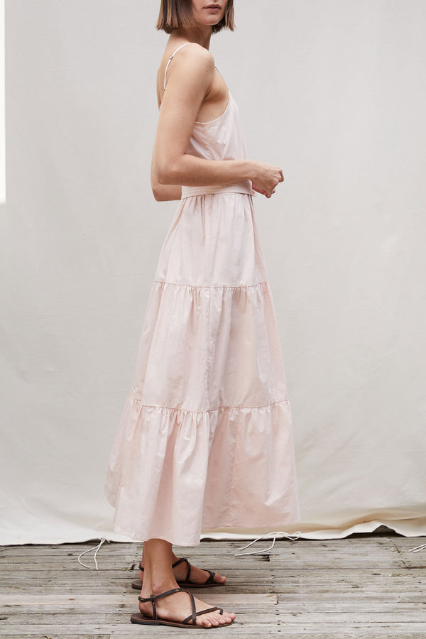 Apiece Apart Marjana Spaghetti Maxi Dress Blush
