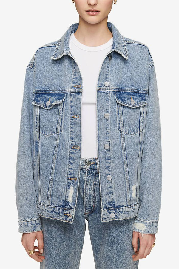 Anine Bing Rory Jacket Vintage Blue