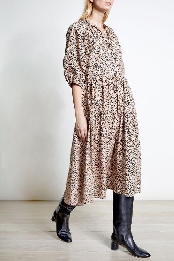 Apiece Apart Mitte Dress Leopard Bouquet