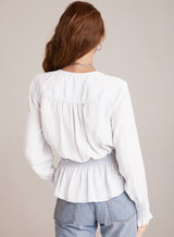 Bella Dahl Smocked Blouse White