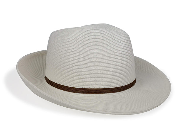 Hat Attack Fine Fedora White Tobacco