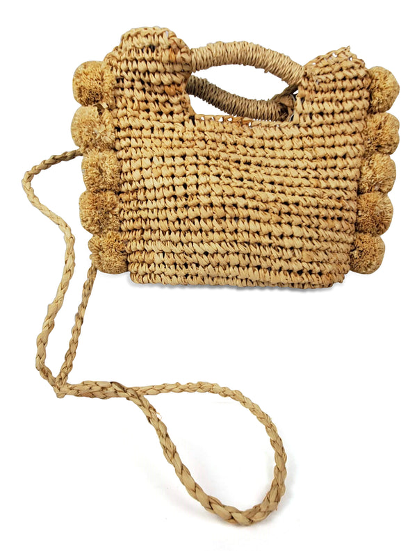 Hat Attack Mini Pom Crossbody Natural