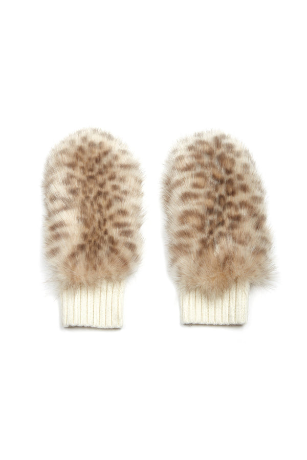 Jocelyn Faux Fur Knit Mittens