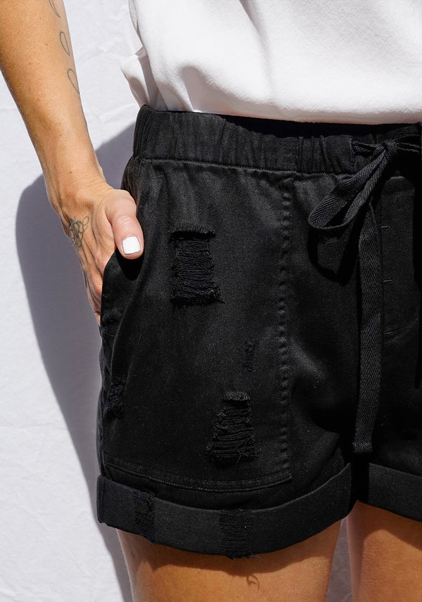 Bella Dahl Easy Pocket Short Black