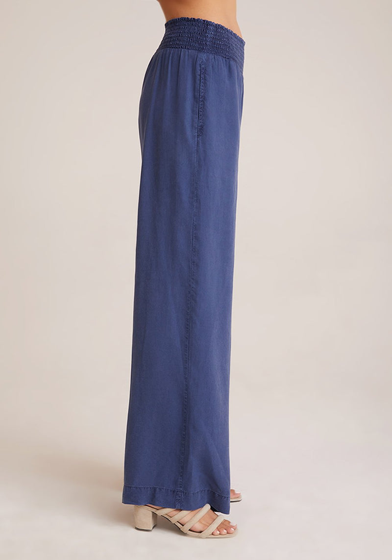 Bella Dahl Smocked Waist Wide Leg Sea Port Navy