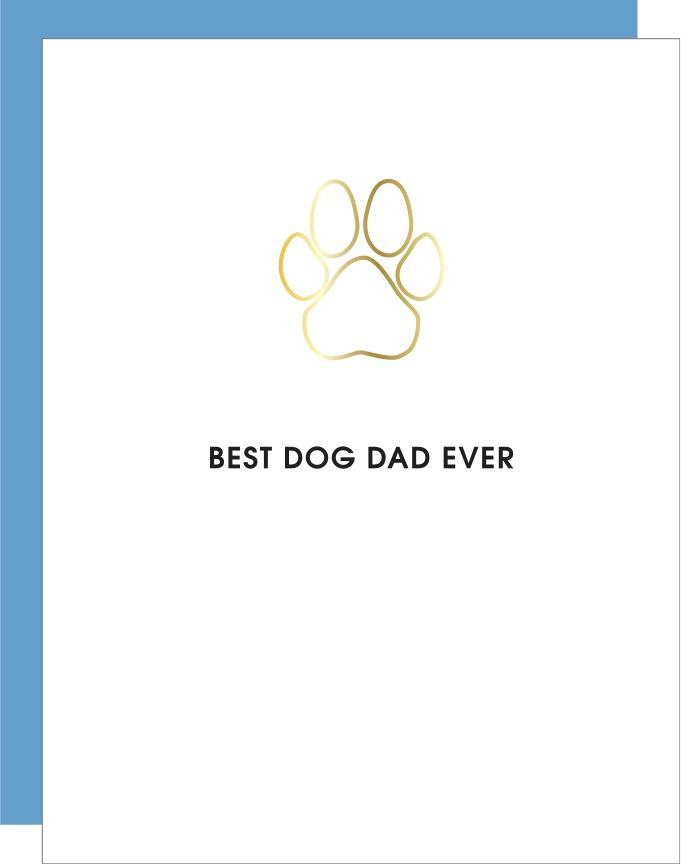 Chez Gagne Best Dog Dad Ever Paperclip Card