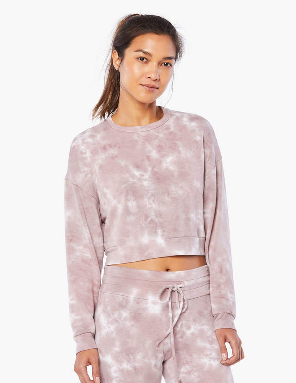 Beyond Yoga Garment Dye Day to Day Pullover Rose Cloud Dye