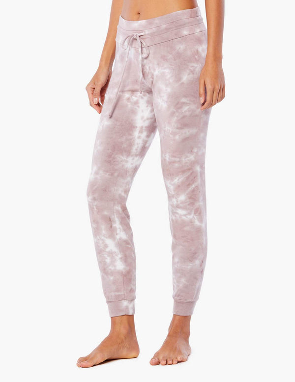 Beyond Yoga Garment Dye Lounge Around Jogger Rose Cloud Dye