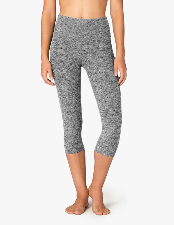 Beyond Yoga High Waist Capri Black-White Space Dye