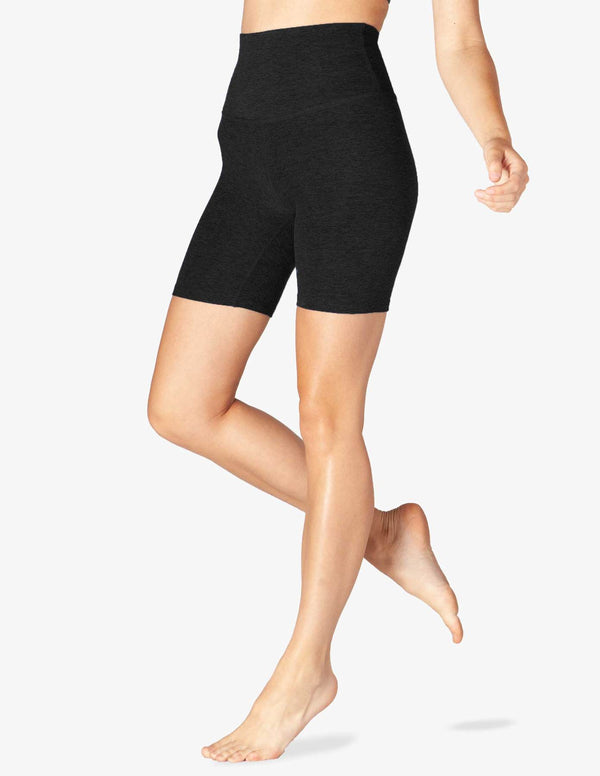 Beyond Yoga High Waisted Biker Short Darkest Night
