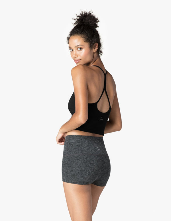 Beyond Yoga Slim Racerback Cropped Tank Jet Black