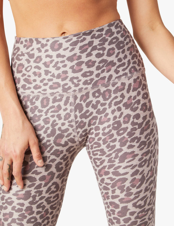 Beyond Yoga Spacedye Printed Caught In The Midi High Waisted Legging Chai Cocoa Brown Leopard