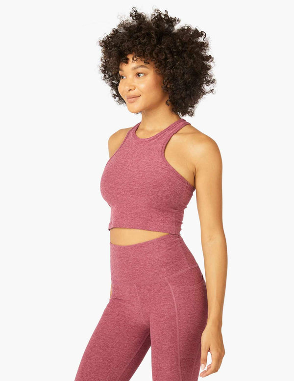 Beyond Yoga Studio Cropped Tank Desert Berry-Blush Blooms