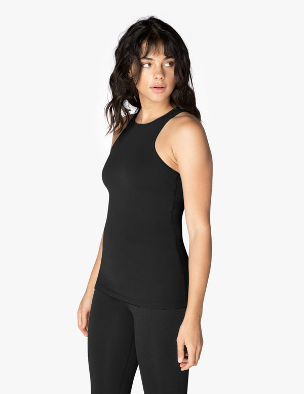Beyond Yoga Under Lock and Keyhole Tank Black Space Dye