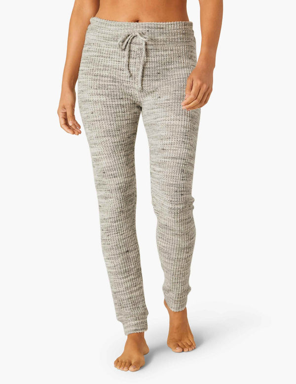 Beyond Yoga Waffle Living Easy Knit Sweatpant Cream Heather