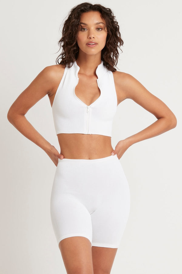 Bound by Bond-Eye The Campbell Crop Optic White Scuba