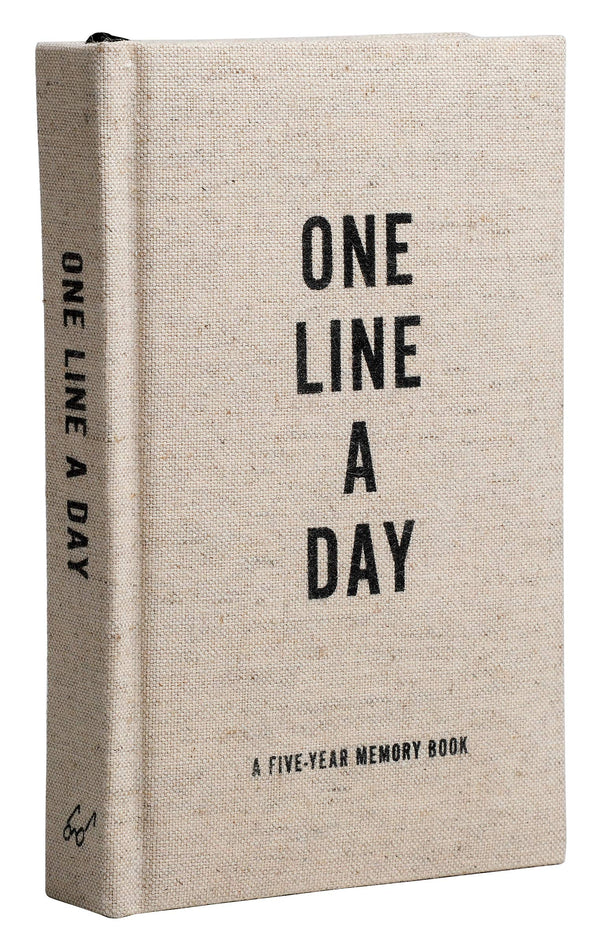 Canvas One Line a Day: A Five-Year Memory Book (Yearly Memory Journal and Diary, Natural Canvas Cover)