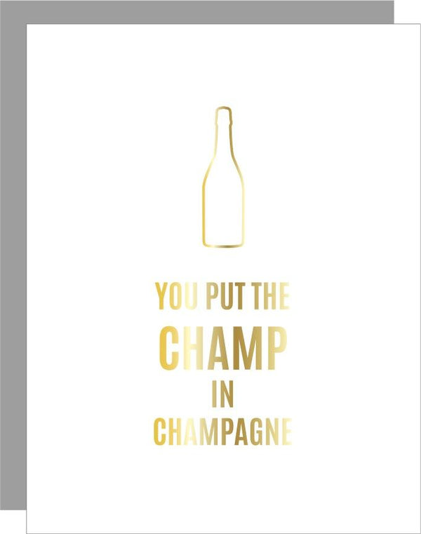 Chez Gagne Champ in Champagne Paperclip Card