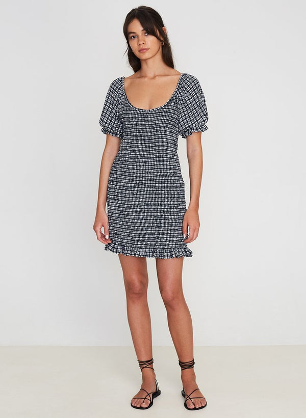 Faithfull the Brand Constantia Mini Dress Emelinah Check