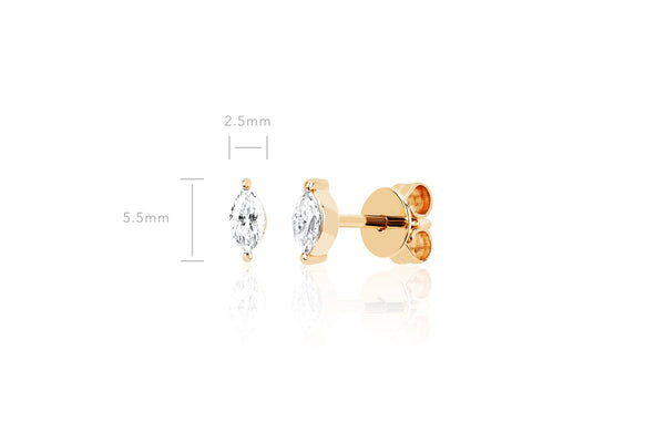 EF Collection Diamond Marquise Stud Earring (PAIR)