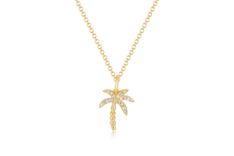 EF Collection Diamond Wild Palm Necklace