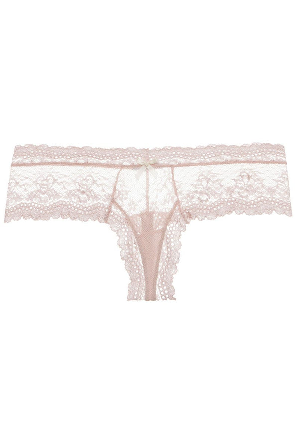 Eberjey Colette Classic Lace Boythong Pink Clay