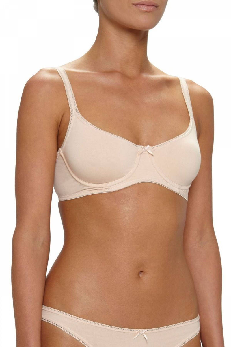 Eberjey Pima Goddess E/Day T-Shirt Bra Buff