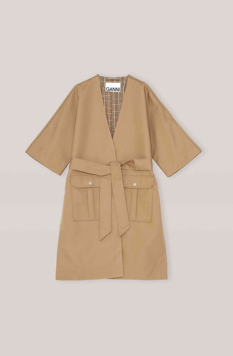 Ganni Double Cotton Jacket Tannin