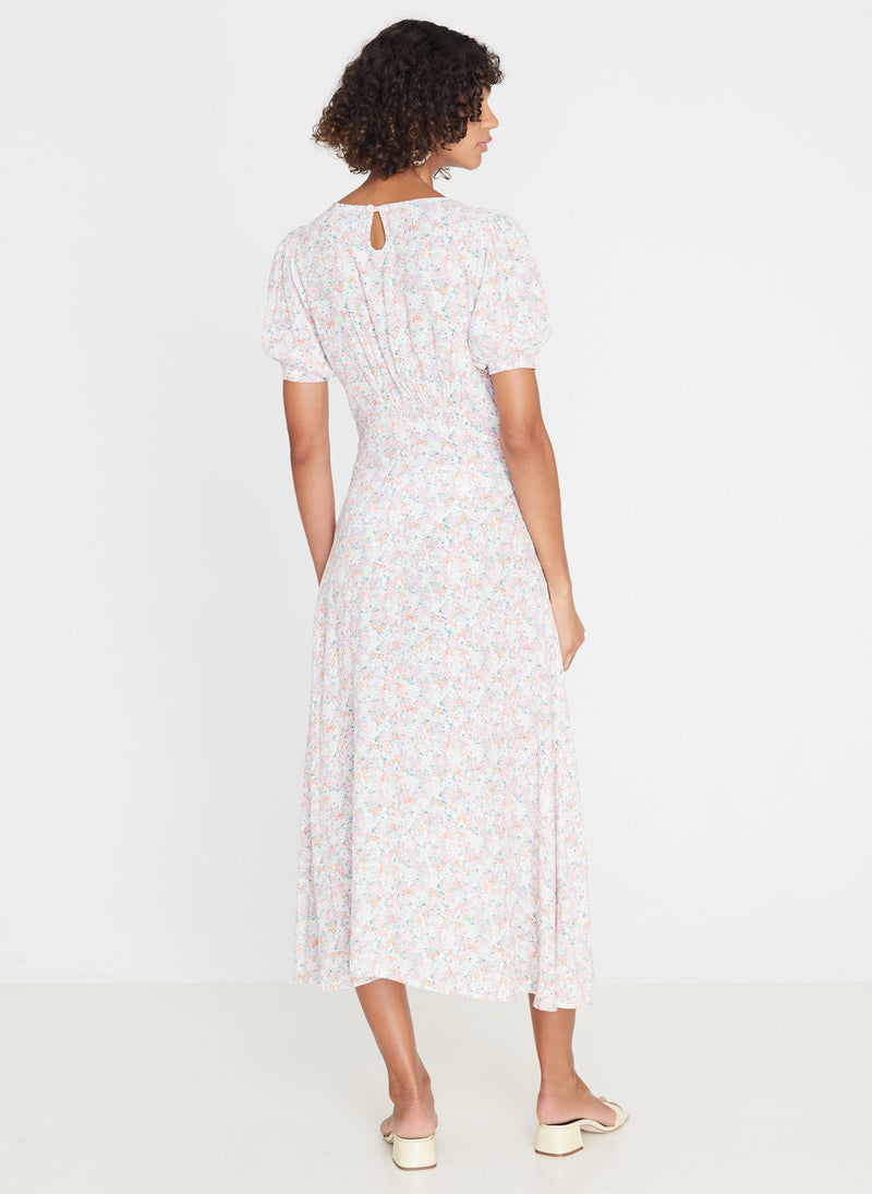 Faithfull the Brand Beline Midi Dress Vionette Floral Print Pink