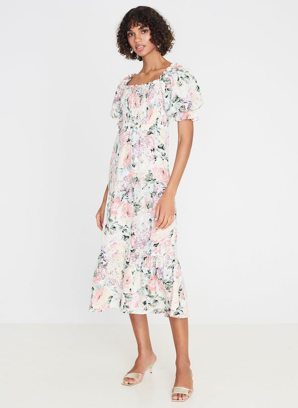 Faithfull the Brand De Christin Midi Dress Venissa Floral Print