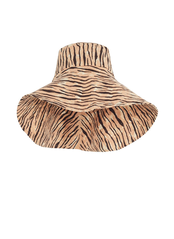 Faithfull the Brand Frederikke Sun Hat Wyldie Animal Print