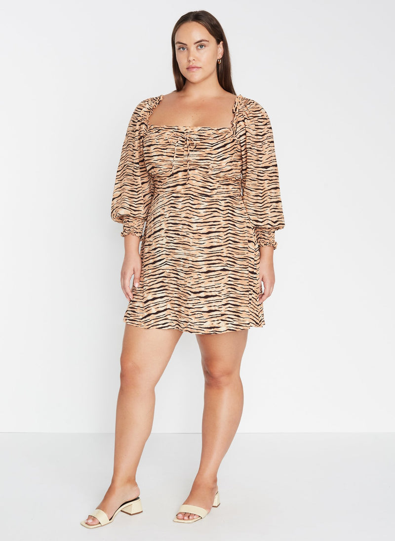 Faithfull the Brand Ira Mini Dress Wyldie Animal Print