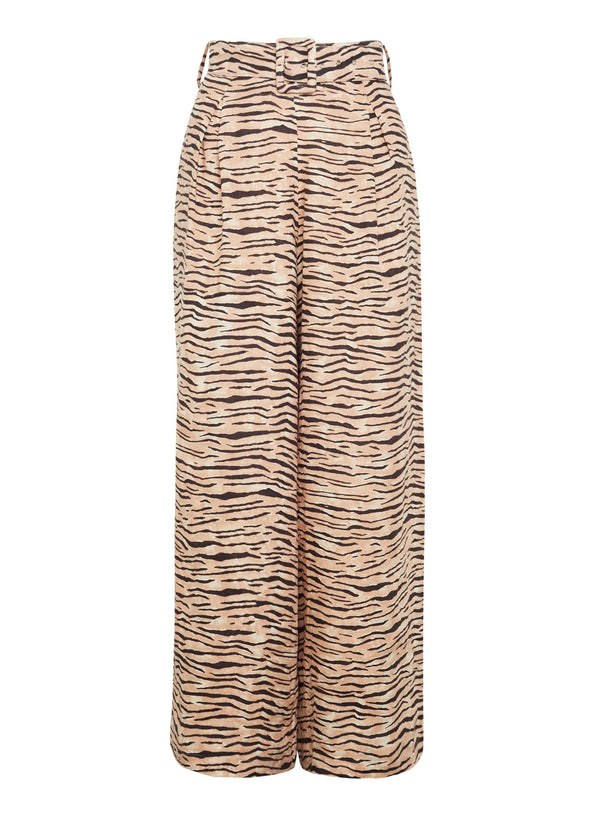Faithfull the Brand Lena Wide Leg Pants Wyldie Animal Print
