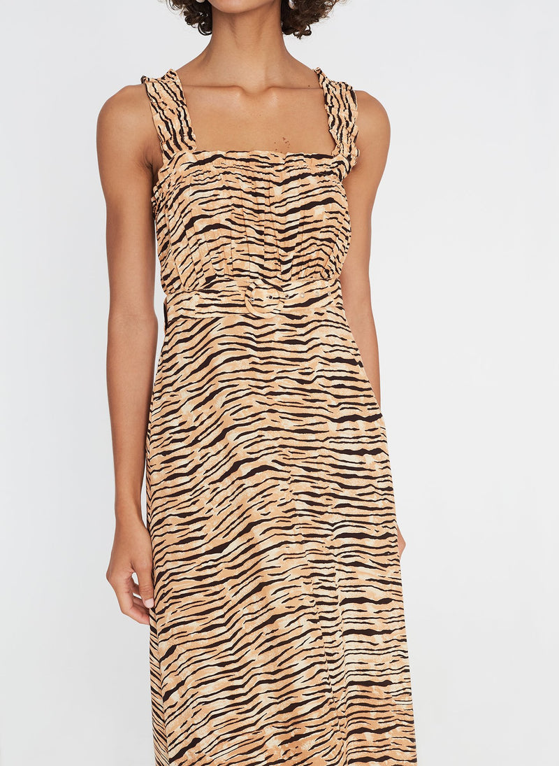 Faithfull the Brand Saint Tropez Midi Dress Wyldie Animal Print