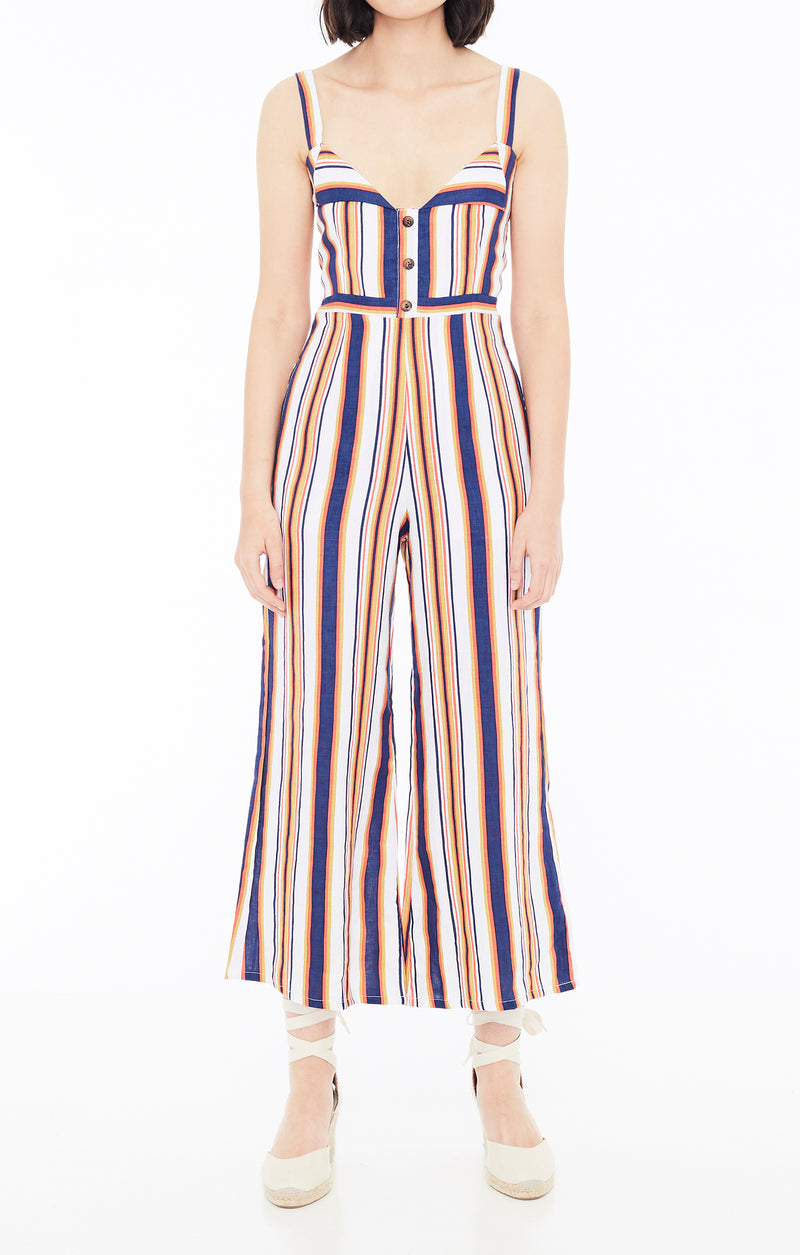 Faithfull The Brand Scout Jumpsuit Mirielle Stripe
