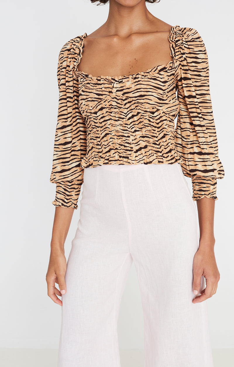 Faithfull the Brand Willow Top Wyldie Animal Print