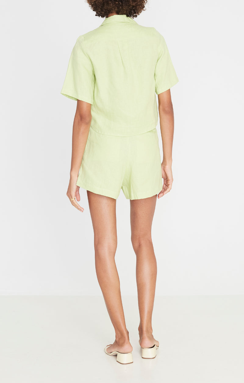 Faithfull the Brand Chaumont Shirt Plaini Avocado Green