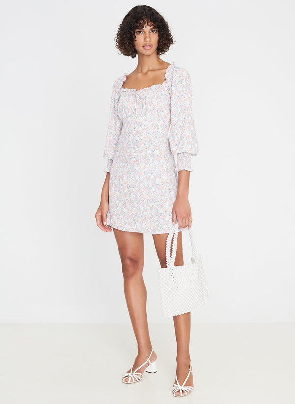 Faithfull the Brand Ira Mini Dress Vionette Floral Print
