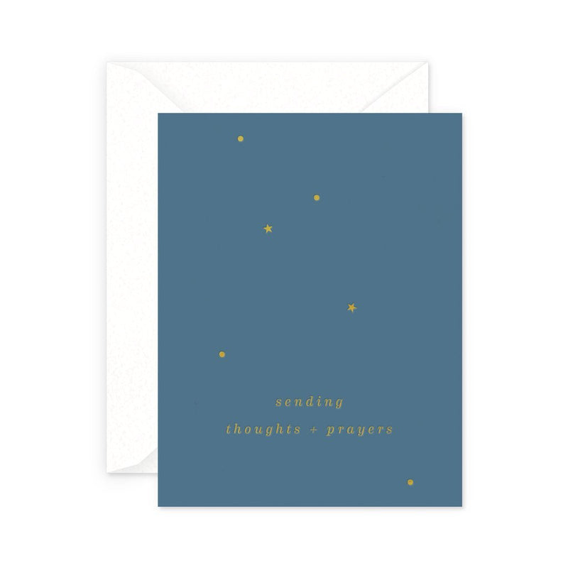 Smitten On Paper Thoughts and Prayers Card
