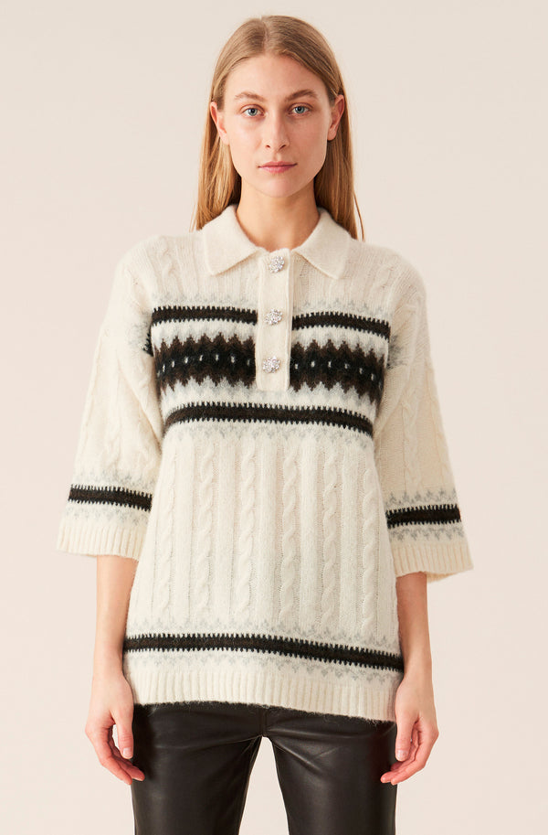 Ganni Alpaca Knit Oversized T-Shirt