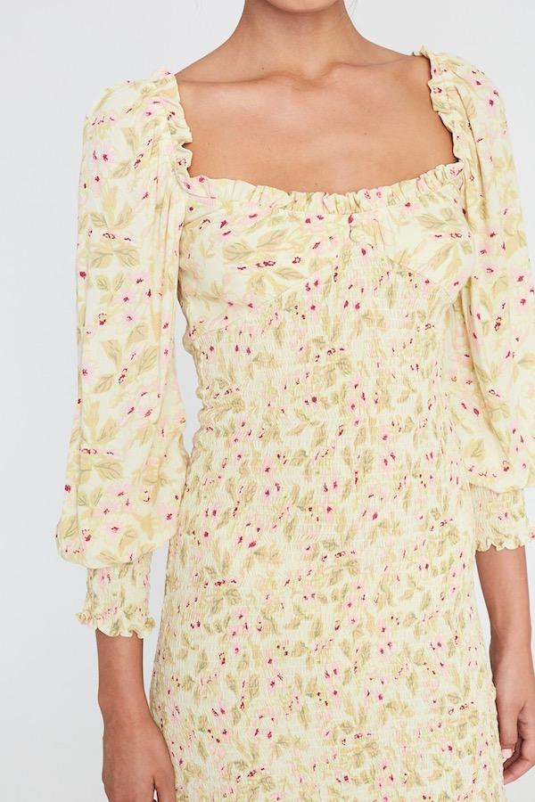 Faithfull the Brand Gombardy Mini Dress Adele Floral Print