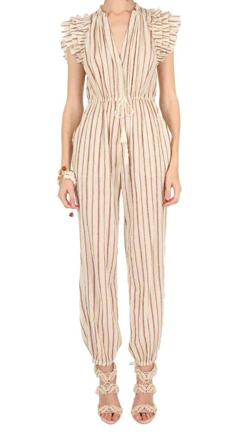 Ulla Johnson Elio Jumpsuit Cream