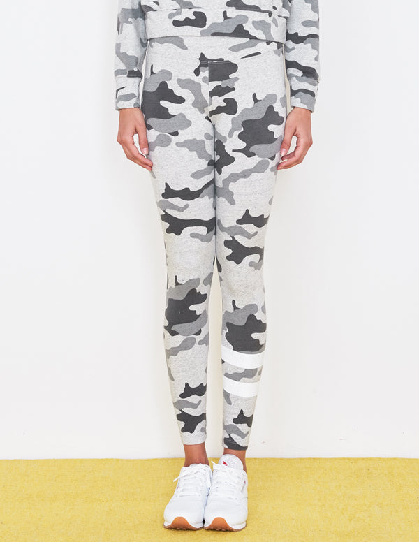 Sundry Stripe Camo Yoga Pant Light Grey