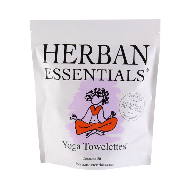 Herban Essentials Yoga Towelettes Regular